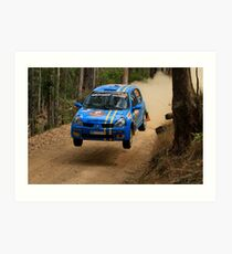 Airtime For Guy Tyler - FIA Australian Rally Championship 13.09.2013 Art Print