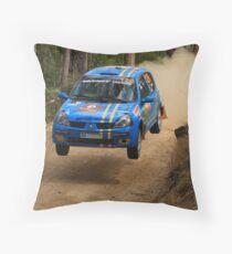 Airtime For Guy Tyler - FIA Australian Rally Championship 13.09.2013 Throw Pillow