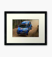 This Is Gonna Hurt - Guy Tyler- FIA World Rally Championship Australia 13.09.2013 Framed Print
