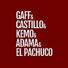Gaff & Castillo & Kemo & Adama & El Pachuco (red) by olmosperfect