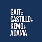 Gaff & Castillo & Kemo & Adama (blue) by olmosperfect