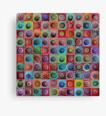 Jewel Drop Mandala Mosaic Canvas Print