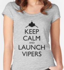 Keep Calm and Launch Vipers - Light Women's Fitted Scoop T-Shirt
