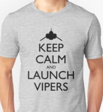 Keep Calm and Launch Vipers - Light Unisex T-Shirt
