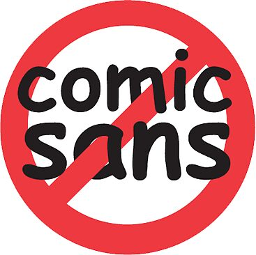 Ban Comic Sans Stickers