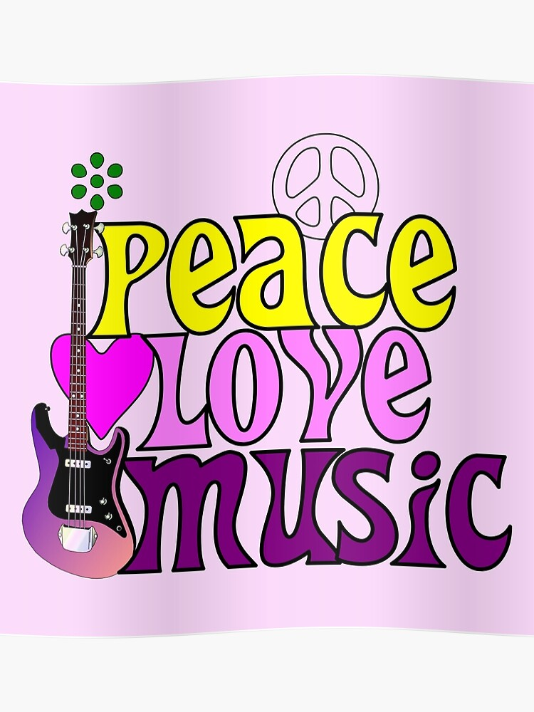 Peace love and music hippie summer of love | Poster