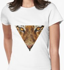 Animal Art - Tiger Womens Fitted T-Shirt