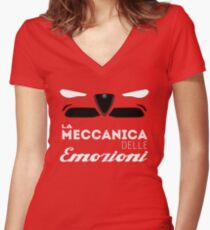 mechanical emotions Women's Fitted V-Neck T-Shirt