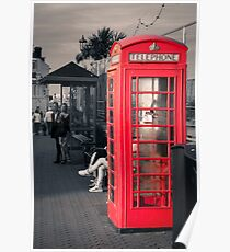 Phonebox at Eastbourne Poster