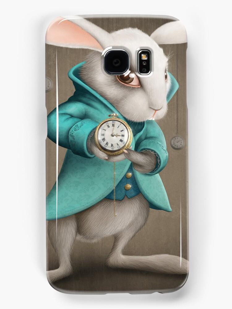 white rabbit with clock by jordygraph