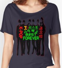 ♥♫I Love B2ST Forever Splendiferous K-Pop Clothes & Stickers♪♥ Women's Relaxed Fit T-Shirt