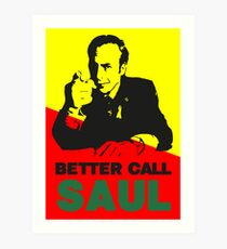 Better Call Saul (Red/Yellow) Art Print