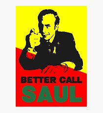 Better Call Saul (Red/Yellow) Photographic Print