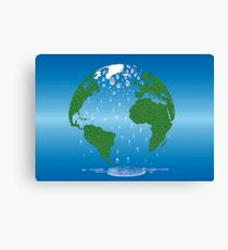 Global Warming Climate Change Earth Prints  Canvas Print