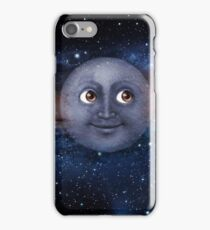 The moon in space iPhone Case/Skin