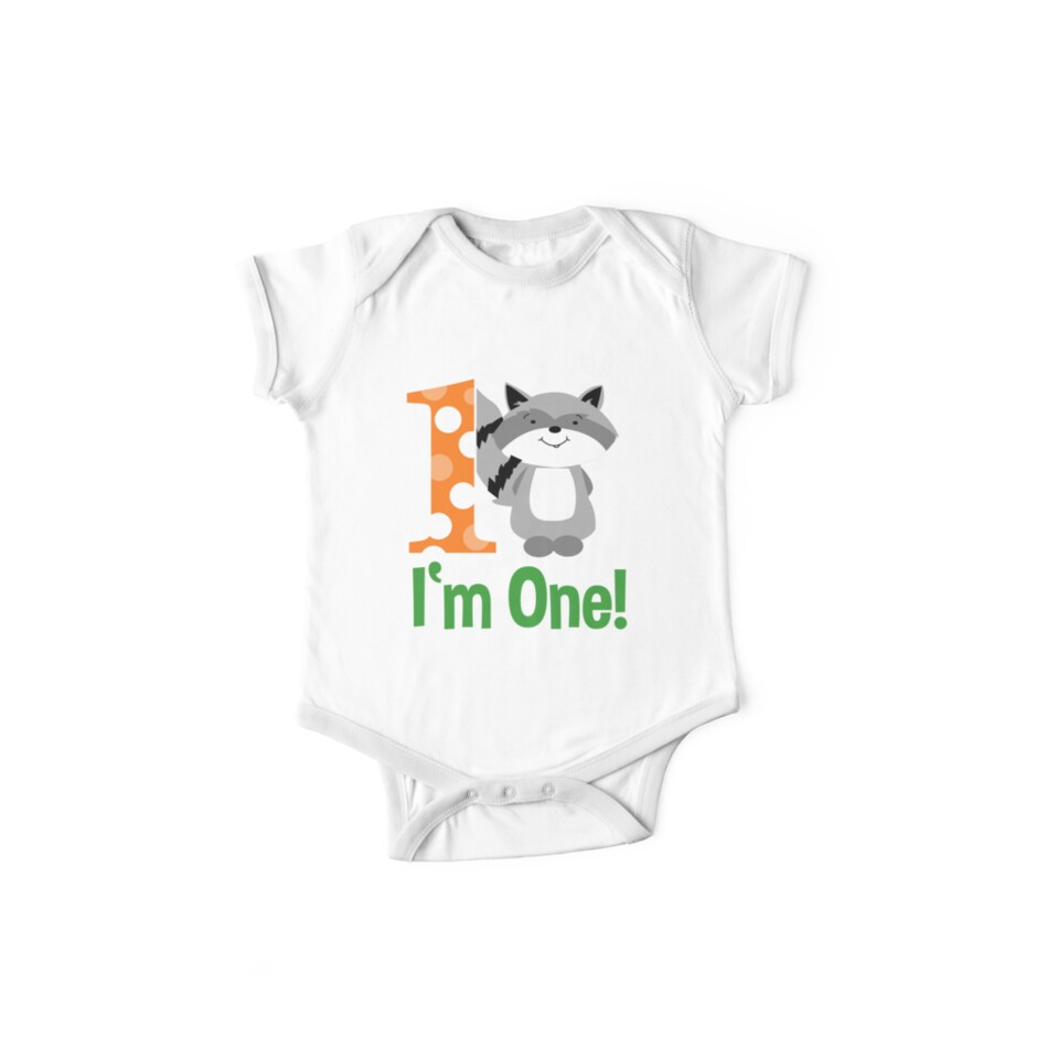 Raccoon Im One First Birthday Shirt
