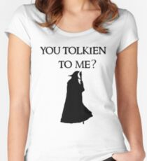 You Tolkien to me?  Women's Fitted Scoop T-Shirt