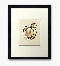 The Technicolor Snail And His Trusty Gnome Framed Print