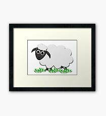 A Wooly Lamb Smiles Framed Print