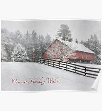 Warmest Holiday Wishes Poster