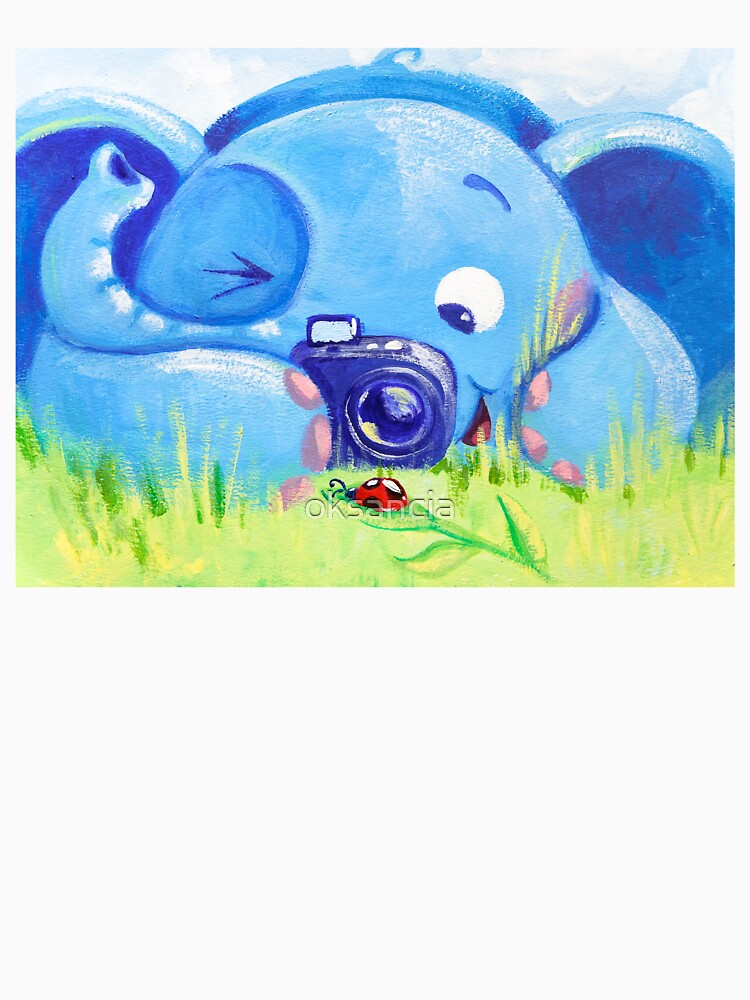 Photographer - Rondy the Elephant with photo camera by oksancia