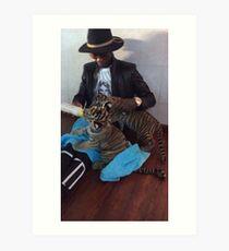 Young Thug Feeding Tigers Art Print
