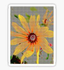 Yellow sunflower design vertical view Sticker