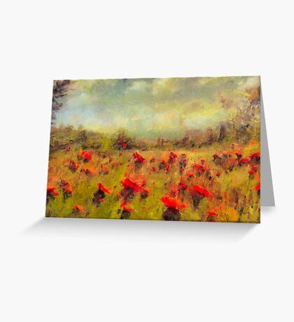 Mountain Meadows - New Hempshire  Greeting Card