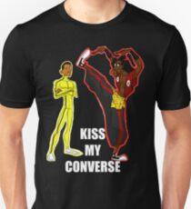 Kiss My Converse (White TXT) Unisex T-Shirt