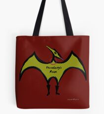 Pterodactyls Reign Red and Green Tote Bag