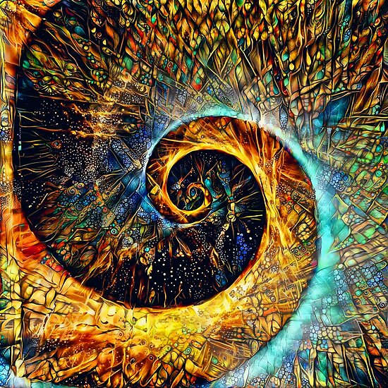 Abstractions of abstract abstraction of Fibonacci spiral