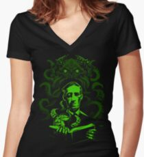 Love Cthulhu Women's Fitted V-Neck T-Shirt