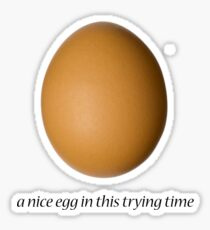 a nice egg Sticker