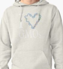 I Love (heart) GMOs Pullover Hoodie