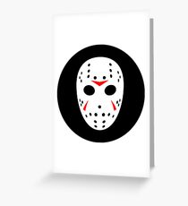 Halloween Hockey Mask Jason Friday 13th Ideology Greeting Card