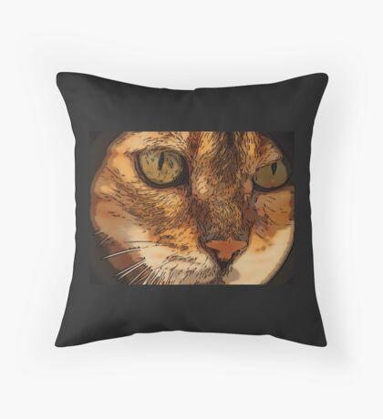 Cat a Tiggy Throw Pillow