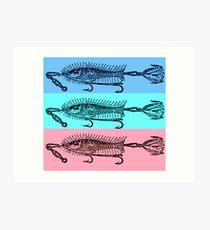 vintage fish art design Art Print