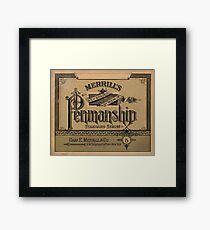 Merrill's Penmanship Primer, 1887 Framed Print