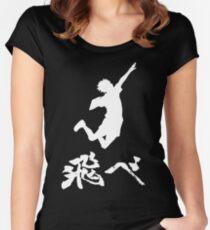 Haikyuu Hinata Tobe(FLY) WHITE Women's Fitted Scoop T-Shirt