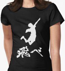 Haikyuu Hinata Tobe(FLY) WHITE Women's Fitted T-Shirt