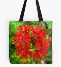 Exotic Garden Red Tote Bag