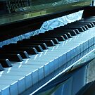 Blue Piano Keys by BlueMoonRose