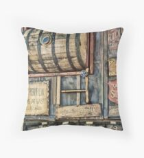 Steampunk Brewery Throw Pillow