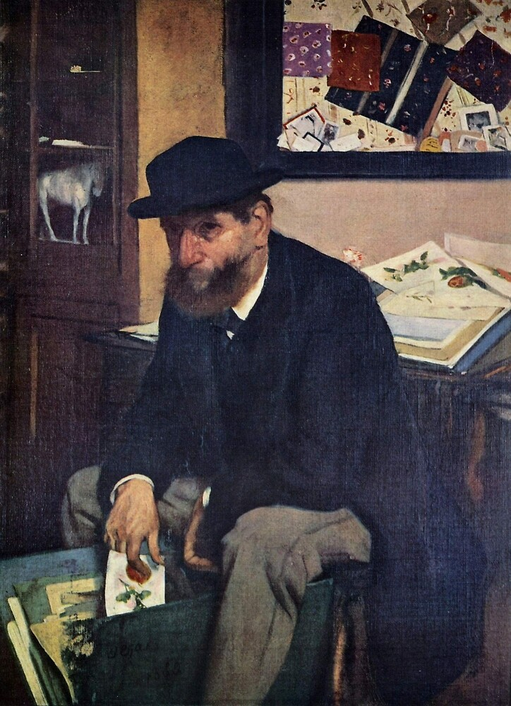 Edgar Degas French Impressionism Oil Painting Man Sitting by jnniepce