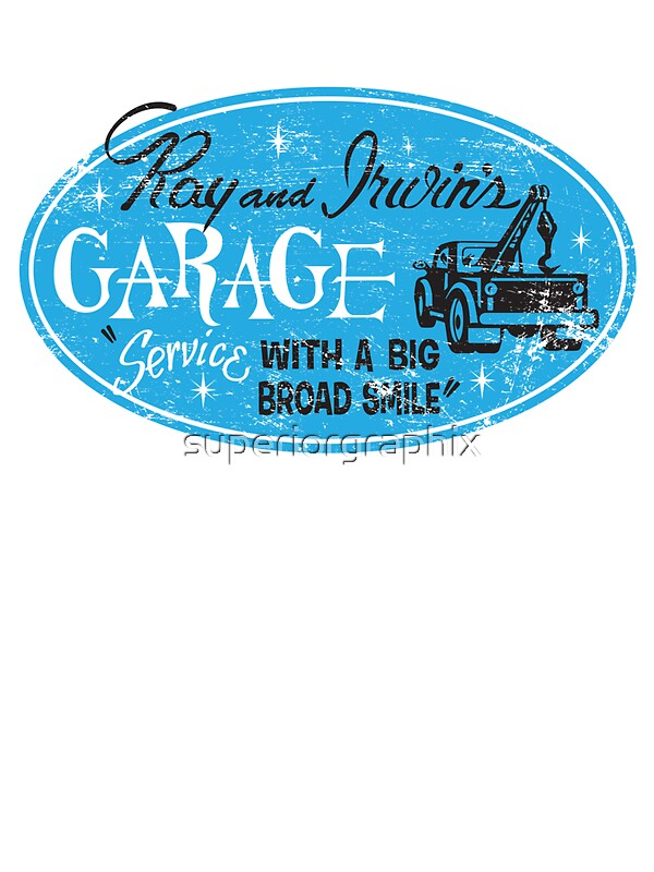 """""""Ray & Irwin's Garage"""" Stickers by superiorgraphix 