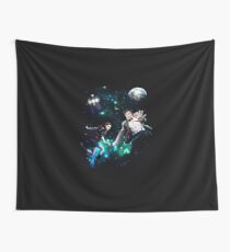 Amy and The Doctor in Space Wall Tapestry