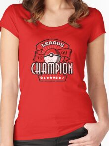 Pokemon League Champion Women's Fitted Scoop T-Shirt