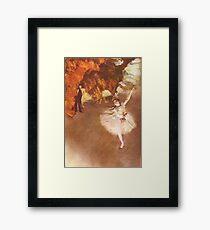 Edgar Degas French Impressionism Oil Painting Ballerinas Dancing Framed Print