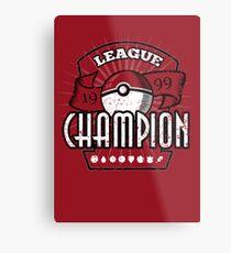 Pokemon League Champion Metal Print