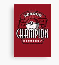 Pokemon League Champion Canvas Print